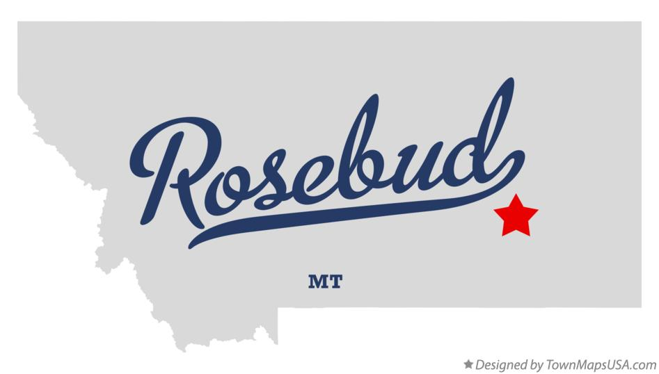 Map of Rosebud Montana MT