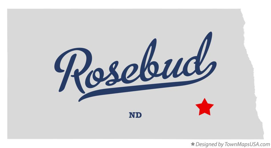 Map of Rosebud North Dakota ND