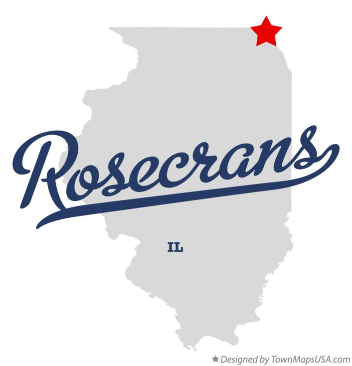 Map of Rosecrans Illinois IL
