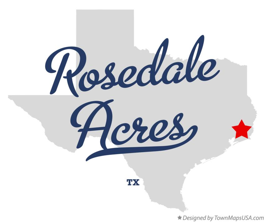 Map of Rosedale Acres Texas TX