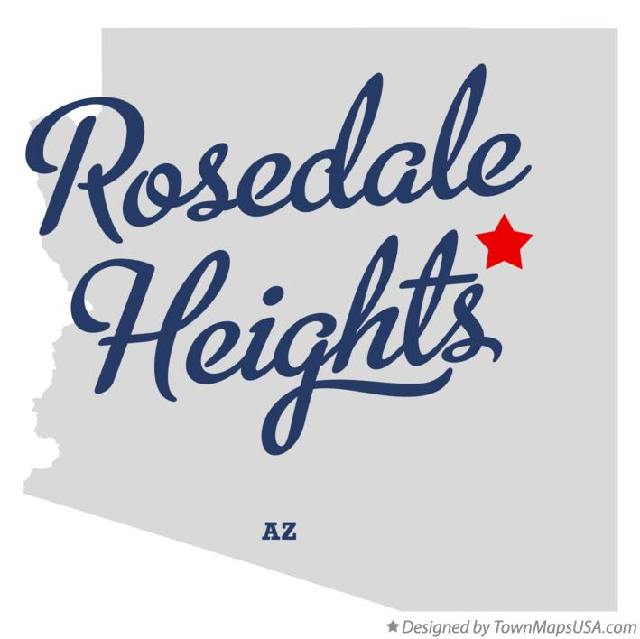 Map of Rosedale Heights Arizona AZ