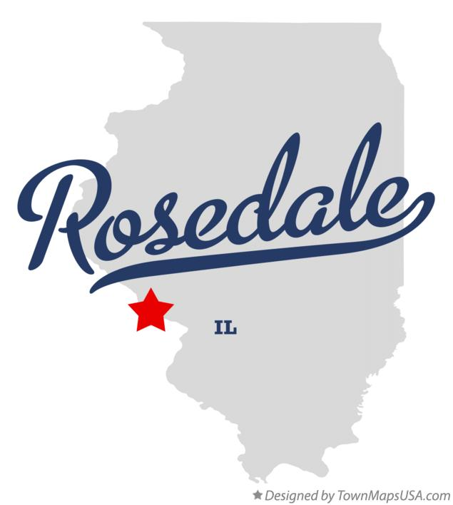 Map of Rosedale Illinois IL