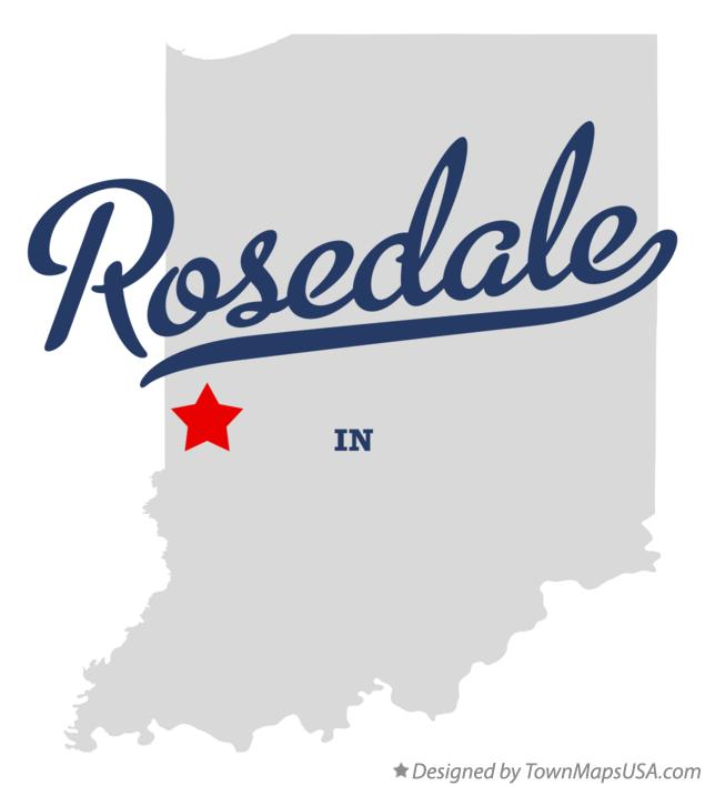Map of Rosedale Indiana IN