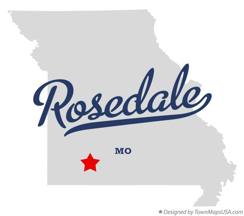 Map of Rosedale Missouri MO
