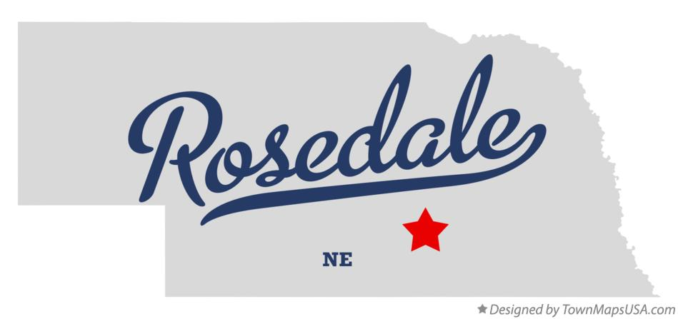 Map of Rosedale Nebraska NE
