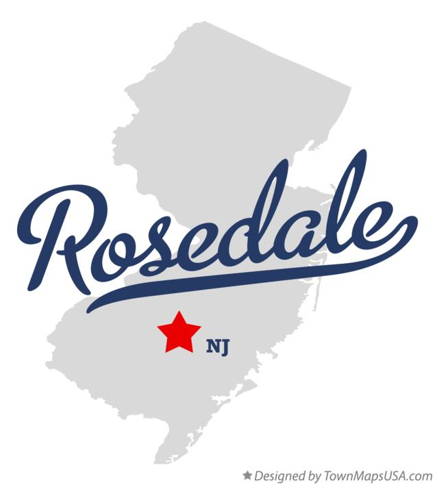 Map of Rosedale New Jersey NJ