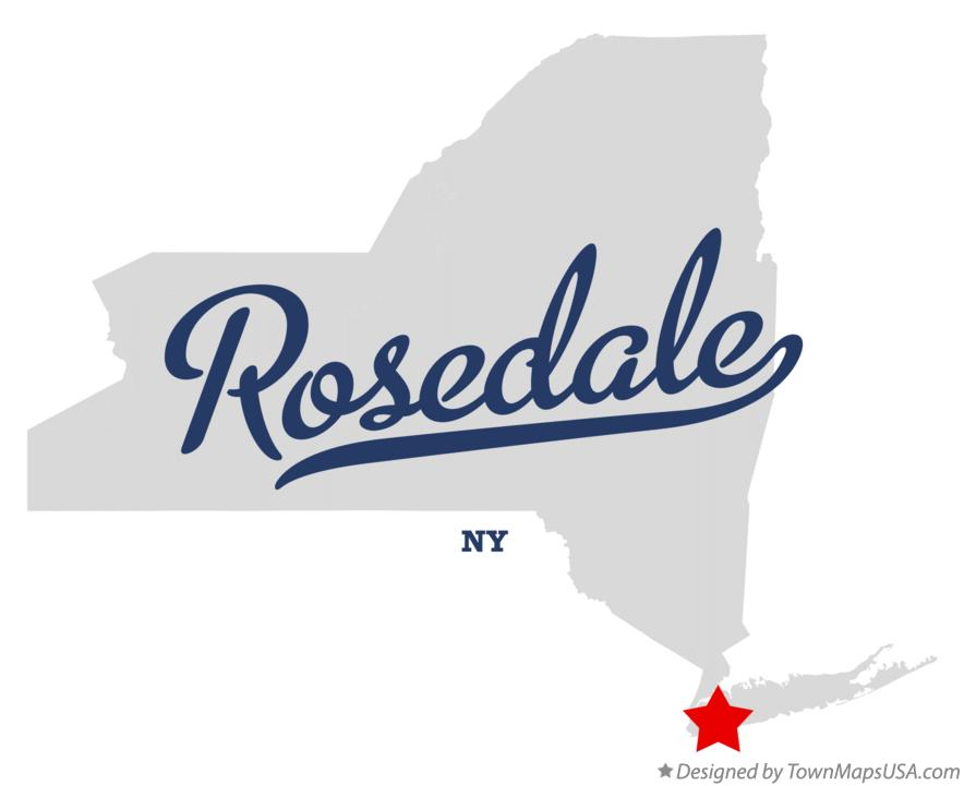 Map of Rosedale New York NY