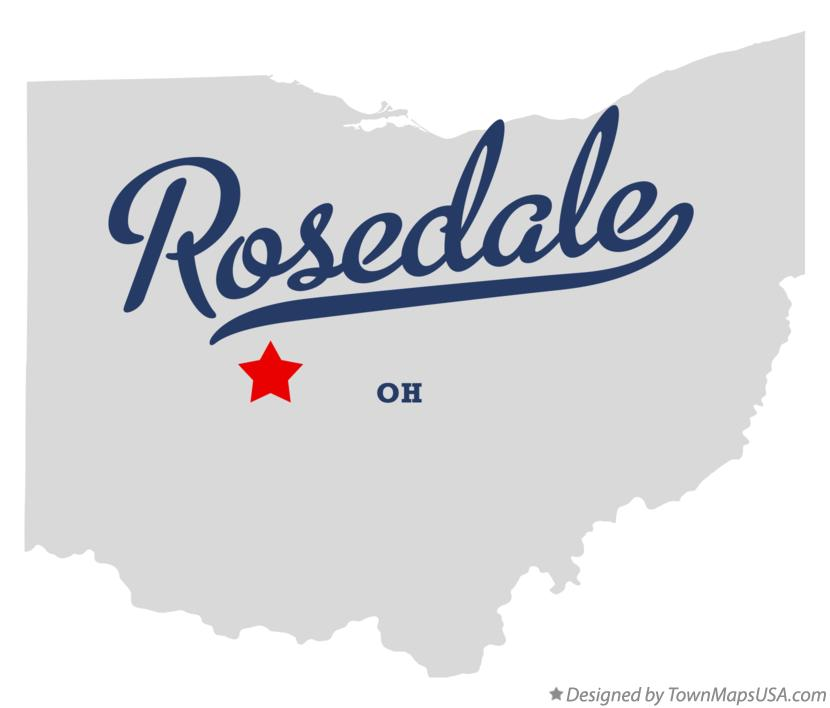 Map of Rosedale Ohio OH