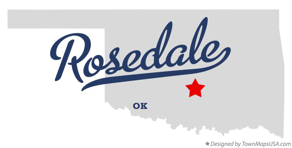 Map of Rosedale Oklahoma OK