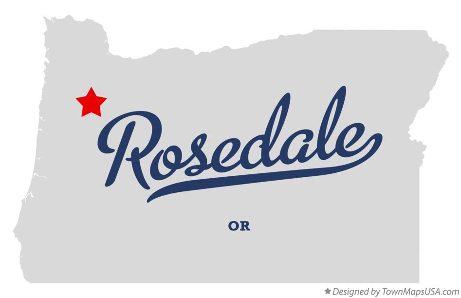 Map of Rosedale Oregon OR