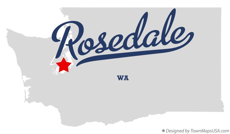 Map of Rosedale Washington WA