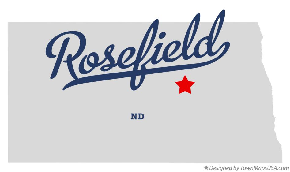 Map of Rosefield North Dakota ND