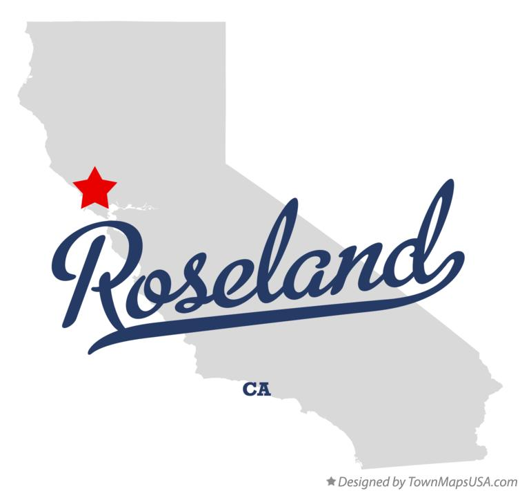 Map of Roseland California CA