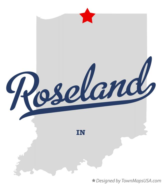 Map of Roseland Indiana IN