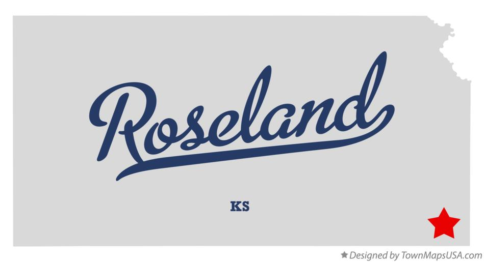 Map of Roseland Kansas KS