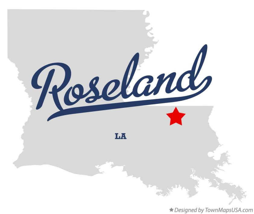 Map of Roseland Louisiana LA