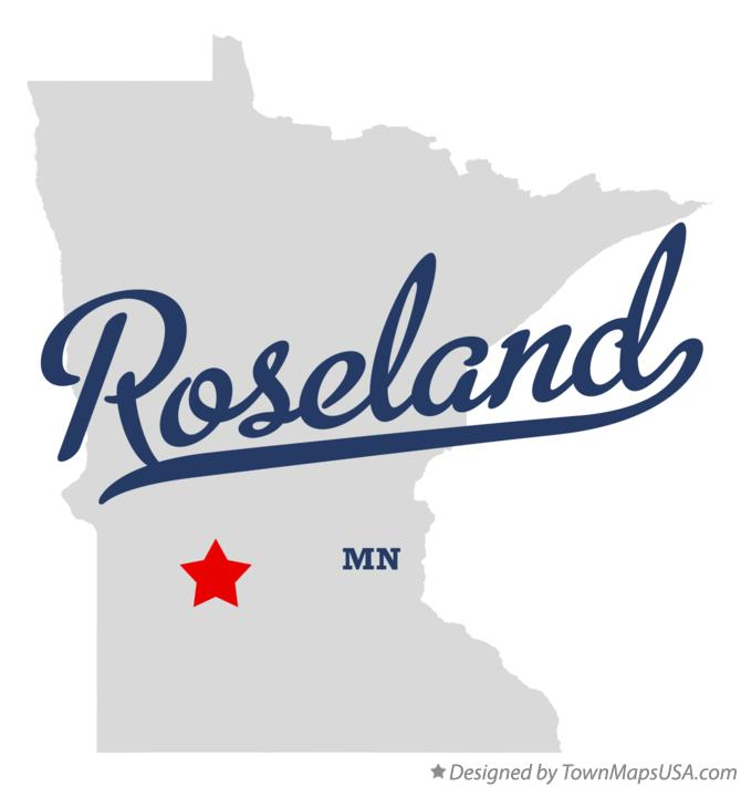 Map of Roseland Minnesota MN