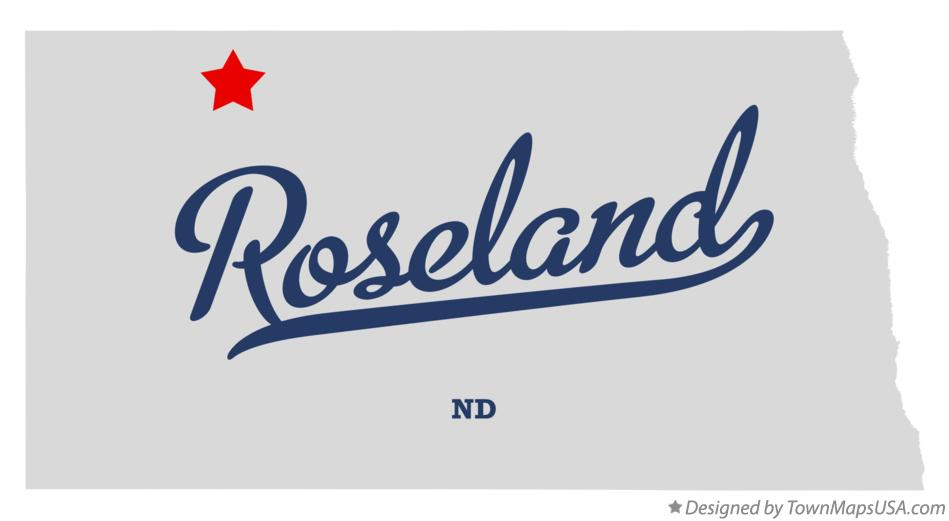 Map of Roseland North Dakota ND