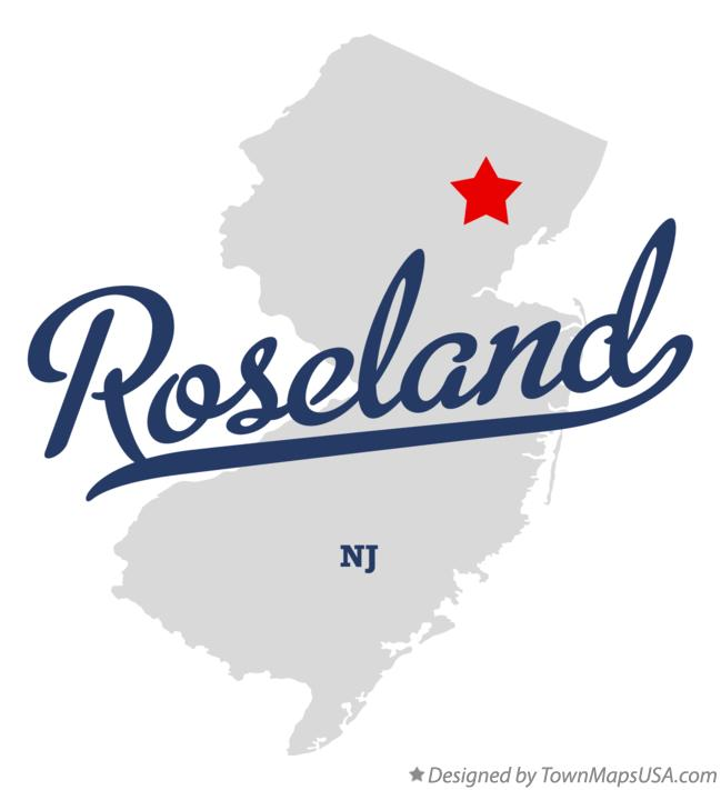 Map of Roseland New Jersey NJ