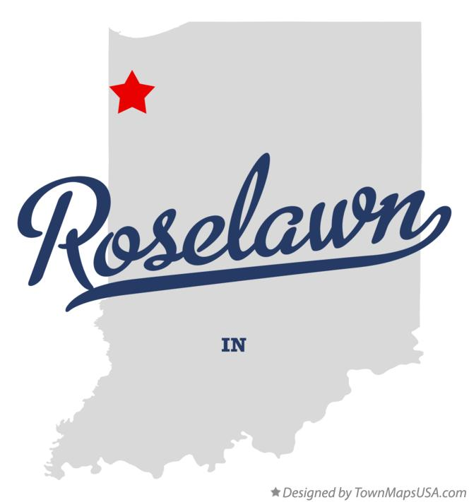 Map of Roselawn Indiana IN