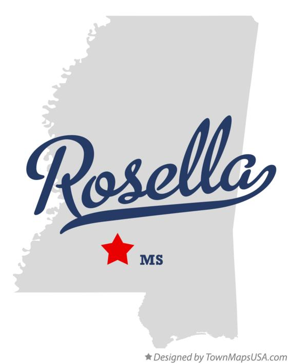 Map of Rosella Mississippi MS