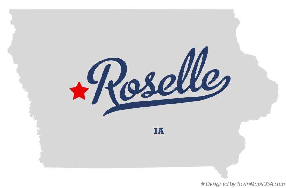Map of Roselle Iowa IA