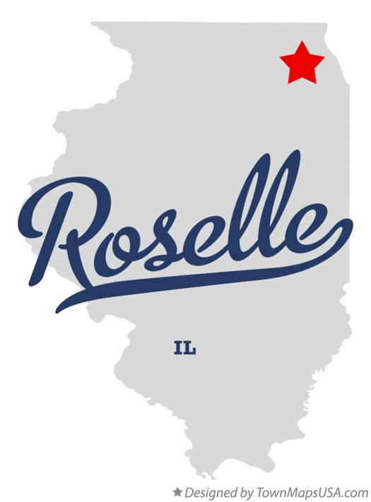 Map of Roselle Illinois IL
