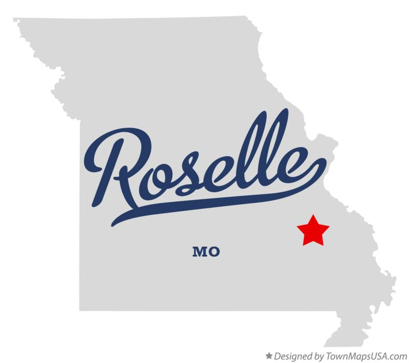 Map of Roselle Missouri MO