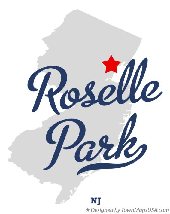 Map of Roselle Park New Jersey NJ