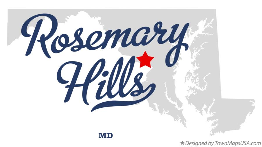 Map of Rosemary Hills Maryland MD