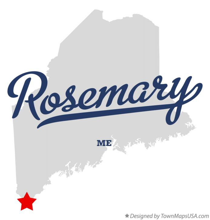 Map of Rosemary Maine ME