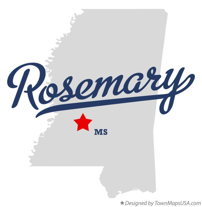 Map of Rosemary Mississippi MS