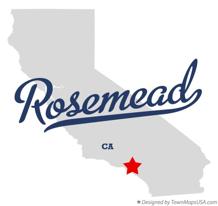 Map of Rosemead California CA