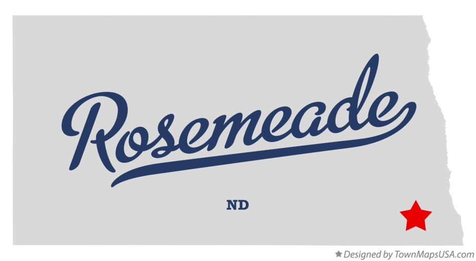 Map of Rosemeade North Dakota ND
