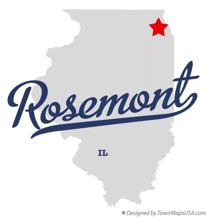 Map of Rosemont Illinois IL