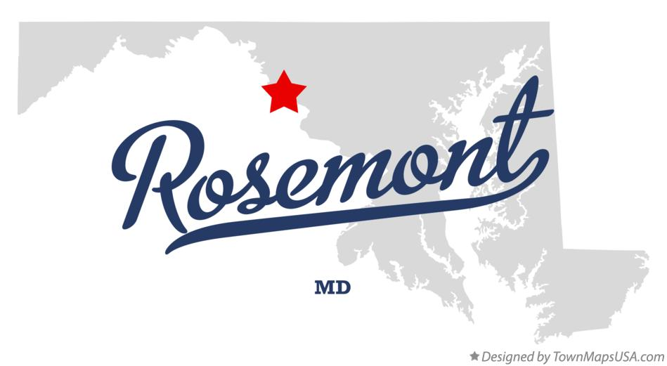 Map of Rosemont Maryland MD