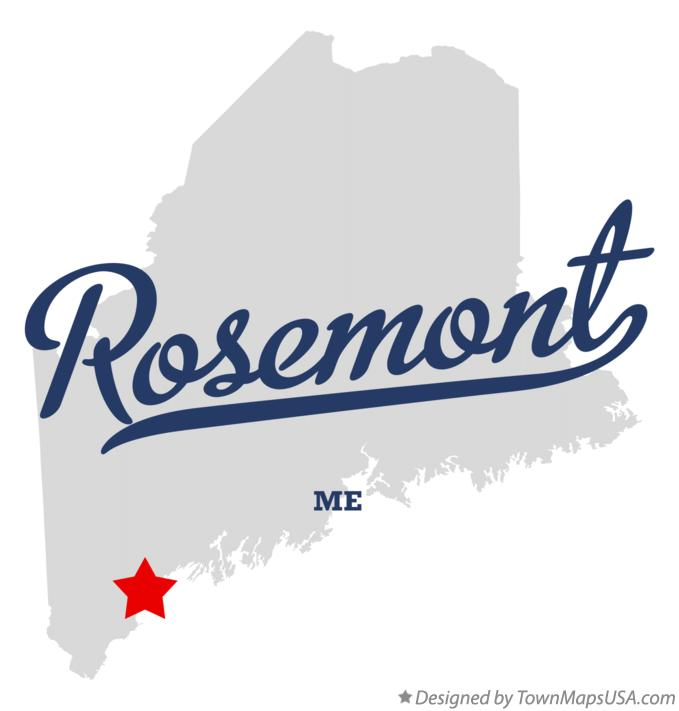 Map of Rosemont Maine ME