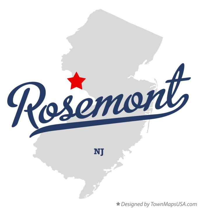Map of Rosemont New Jersey NJ