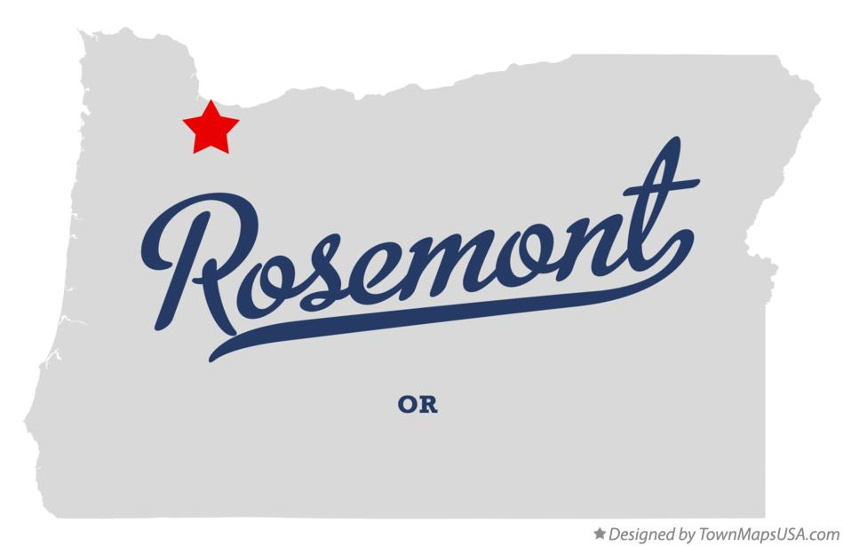 Map of Rosemont Oregon OR
