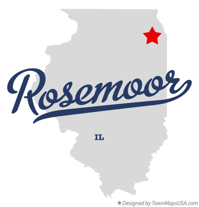 Map of Rosemoor Illinois IL