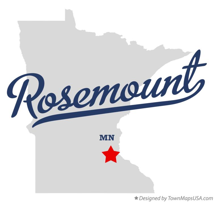 Map of Rosemount Minnesota MN