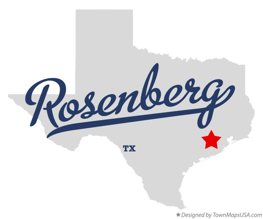 Map of Rosenberg Texas TX