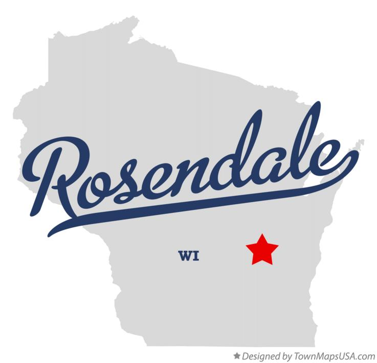 Map of Rosendale Wisconsin WI