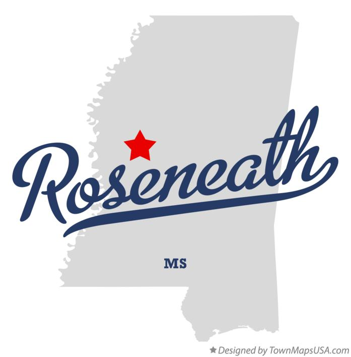 Map of Roseneath Mississippi MS