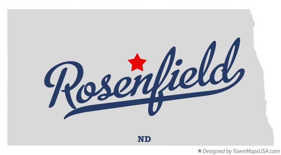 Map of Rosenfield North Dakota ND