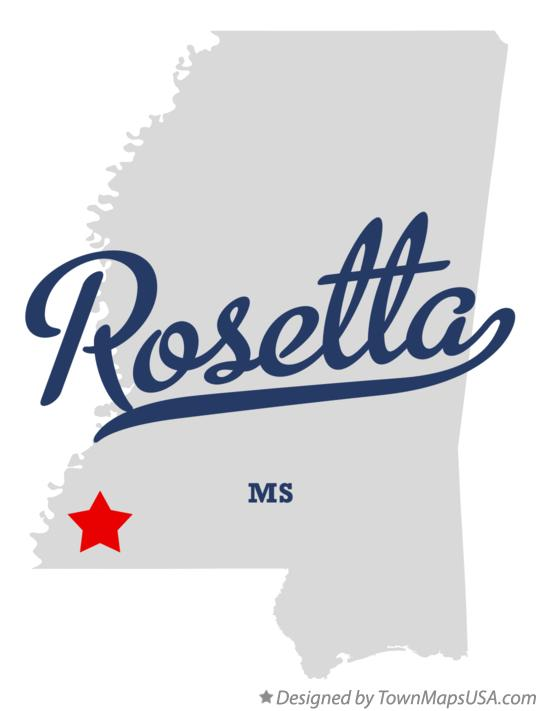 Map of Rosetta Mississippi MS