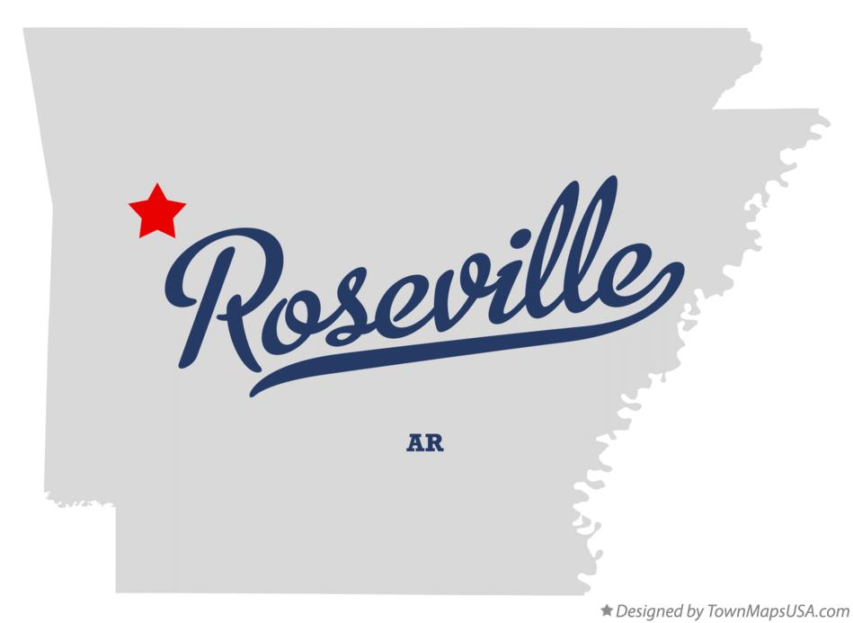 Map of Roseville Arkansas AR