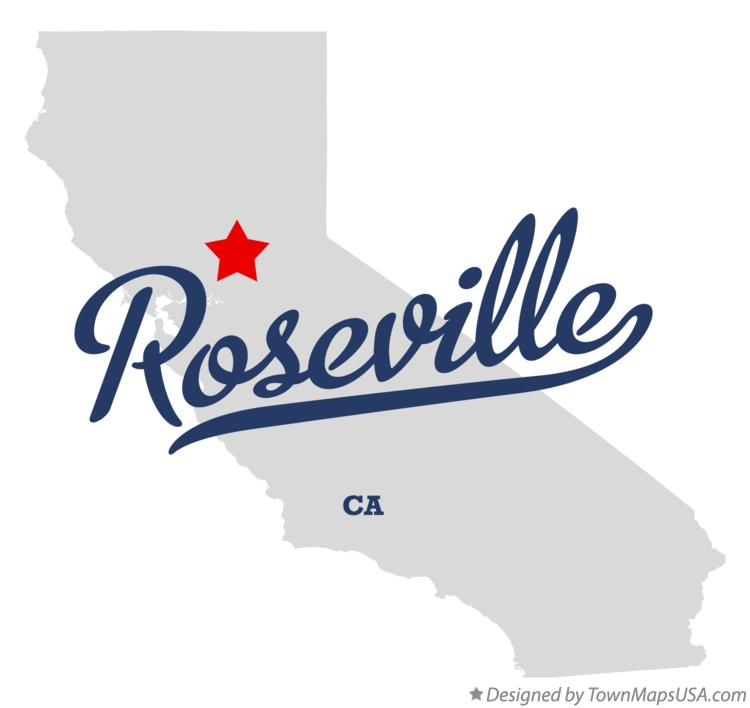 map of roseville placer county ca california