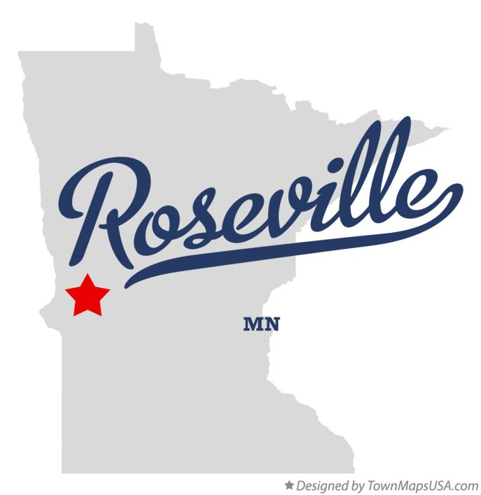 Map of Roseville Minnesota MN