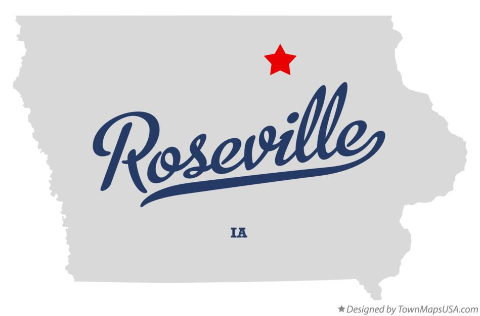 Map of Roseville Iowa IA